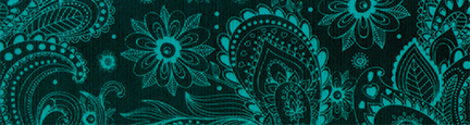 Teal Paisley